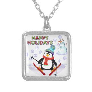 Penguin Skier Necklace