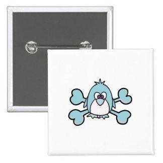 penguin Skull blue Crossbones Pin