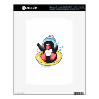 PENGUIN SLEDDING DECALS FOR THE NOOK