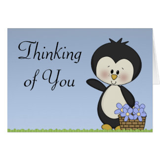 Penguin Smiles Thinking Of You Hope Card
