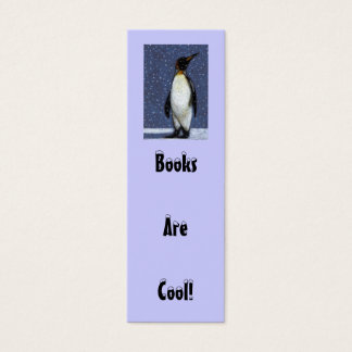 Penguin, Snow: BOOKS ARE COOL BOOKMARK Mini Business Card
