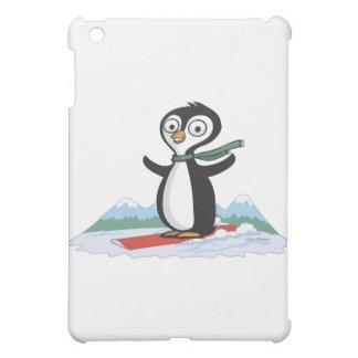 Penguin Snowboarder iPad Mini Cover