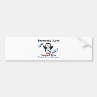 Penguin Someone I Love Prostate Cancer Awareness Bumper Sticker