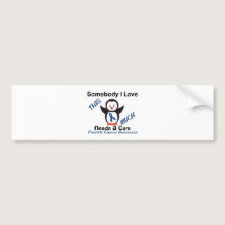 Penguin Someone I Love Prostate Cancer Awareness Bumper Sticker