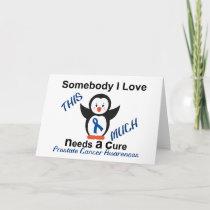 Penguin Someone I Love Prostate Cancer Awareness Card