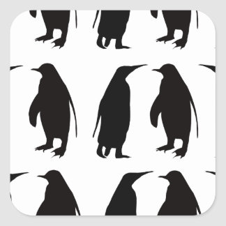Penguin Square Sticker