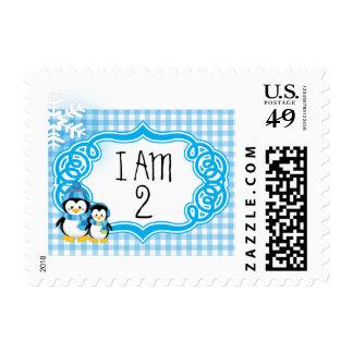 Penguin Stamp in Blue