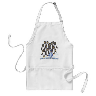 Penguin Stand Out saying Adult Apron