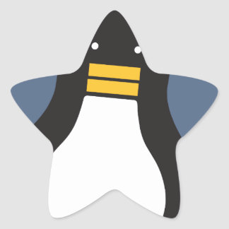 Penguin Star Sticker