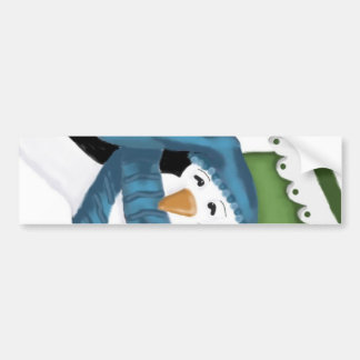 Penguin Stocking  by Tracey Smith Studios Bumper Sticker