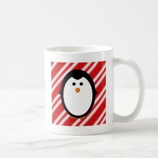 Penguin stripes coffee mug