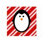 Penguin stripes post card
