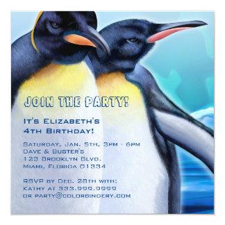 Penguin Strut 5.25 x 5.25 Inch Invitation