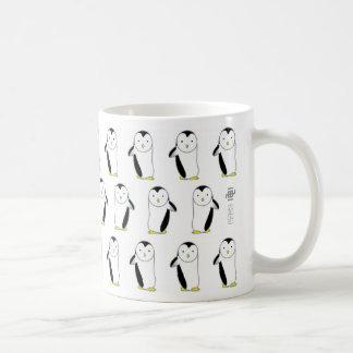Penguin style classic white coffee mug