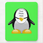 Penguin Suit (Green) Template Mouse Pads