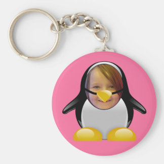 Penguin Suit (Pink) Template Keychain