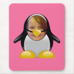 Penguin Suit (Pink) Template Mouse Pad