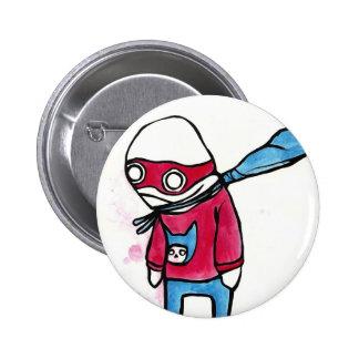 penguin superhero button