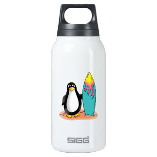 PENGUIN SURFER 10 OZ INSULATED SIGG THERMOS WATER BOTTLE