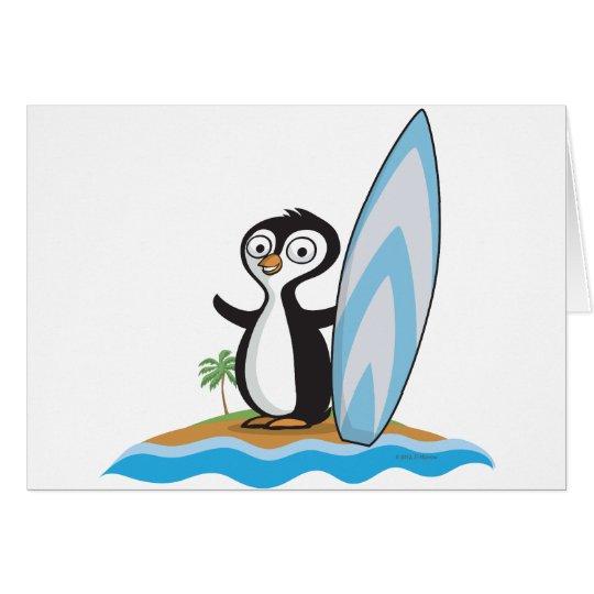 Penguin Surfer Card