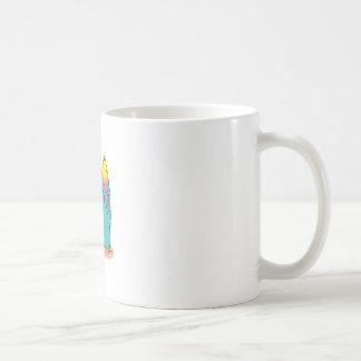 PENGUIN SURFER CLASSIC WHITE COFFEE MUG