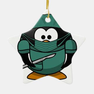 Penguin Surgeon Ceramic Ornament