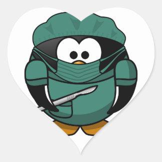 Penguin Surgeon Heart Sticker