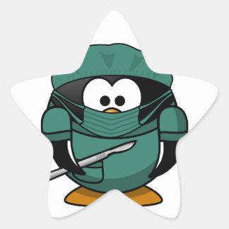 Penguin Surgeon Star Sticker