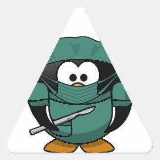 Penguin Surgeon Triangle Sticker