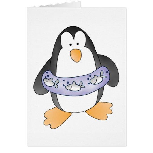 Penguin Swim Card