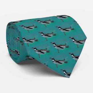 Penguin Swimming Frenzy Tie