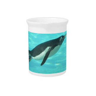 Penguin Swimming Underwater Drink Pitchers
