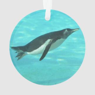 Penguin Swimming Underwater Ornament