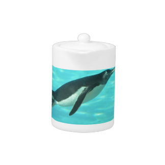 Penguin Swimming Underwater Teapot