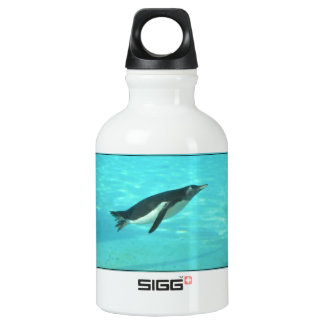 Penguin Swimming Underwater Water Bottle