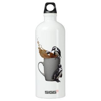 Penguin tea break aluminum water bottle