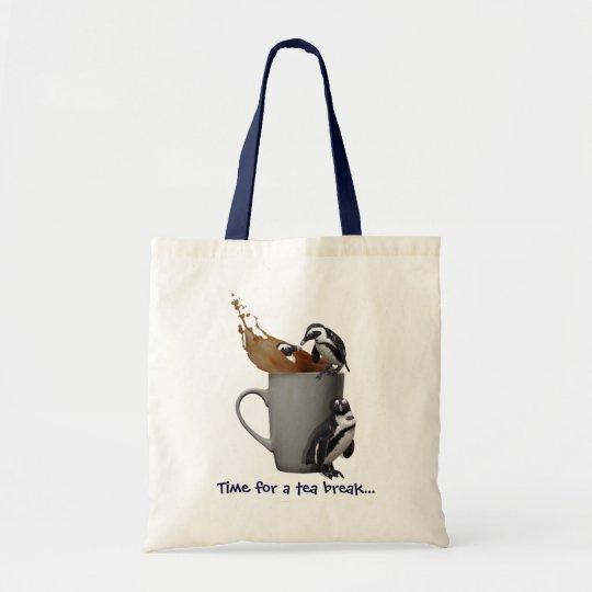 Penguin Tea Break Tote Bag
