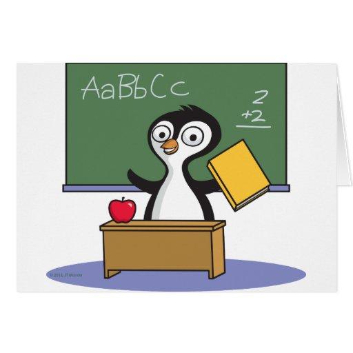 Penguin Teacher Greeting Card