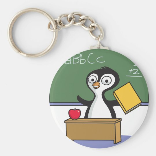 Penguin Teacher Keychain