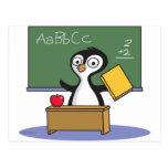 Penguin Teacher Post Card