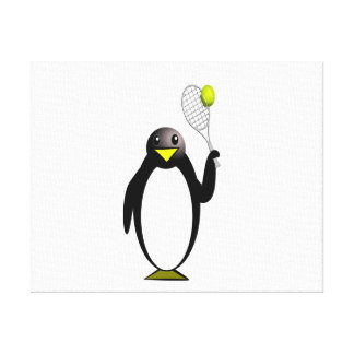 Penguin Tennis Canvas Print