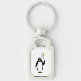 Penguin Tennis Keychain