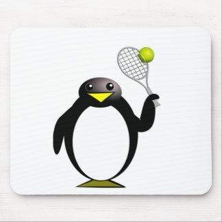 Penguin Tennis Mouse Pad