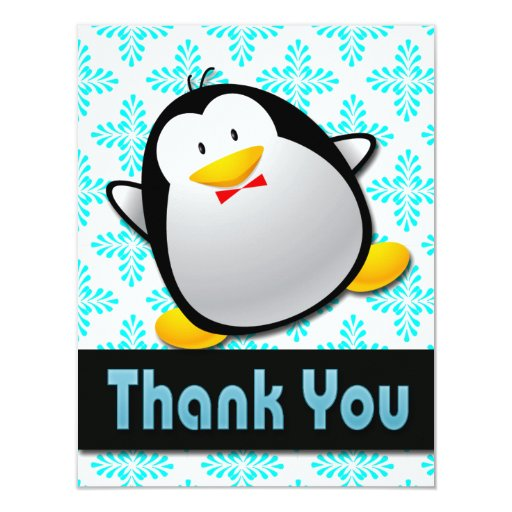Penguin Thank You Note Cards Zazzle