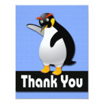 """PENGUIN THANK YOU NOTE CARDS 4.25"""" X 5.5"""" INVITATION CARD"""