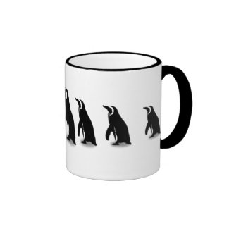 Penguin time ringer coffee mug
