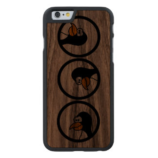 Penguin turns in circles carved® walnut iPhone 6 case