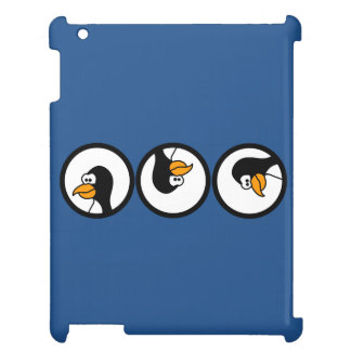 Penguin turns in circles case for the iPad
