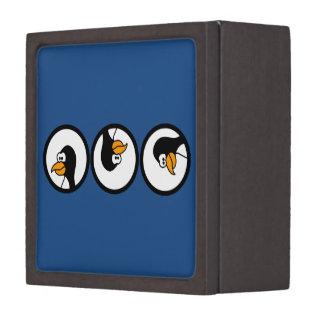 Penguin turns in circles premium trinket boxes