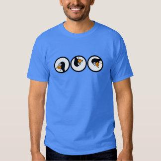 Penguin turns in circles tee shirt